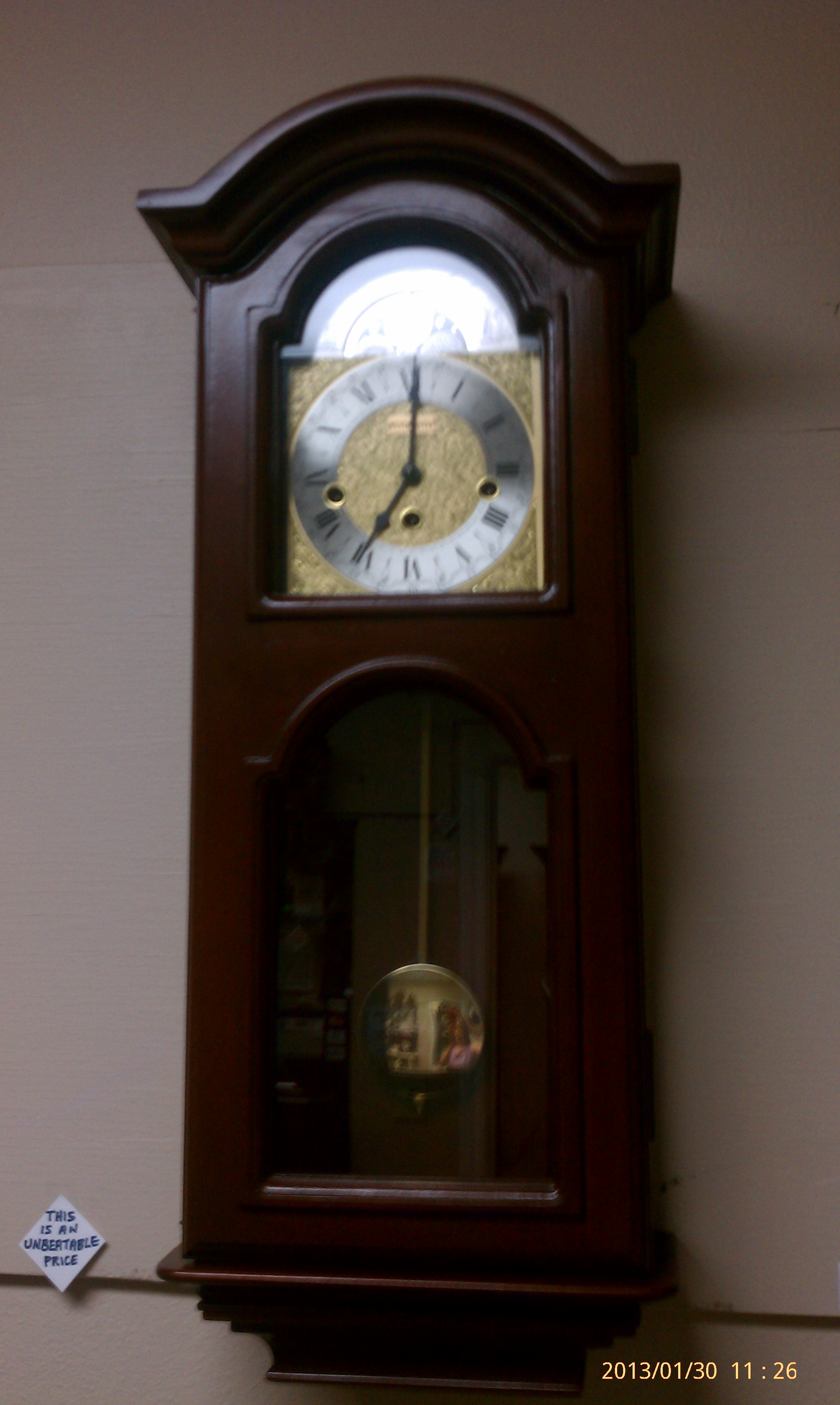 Wall clocks westminster time clock model 86 7122 parlor clock case is solid saplee mahogany from africa german key wind movment with westminster chime amipublicfo Gallery